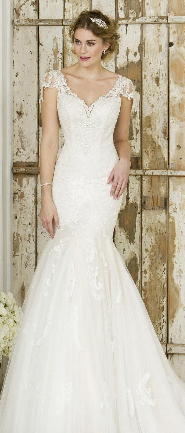 true bride lace wedding dress W244