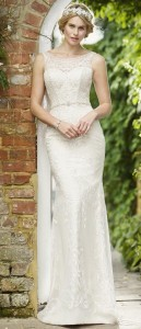 vintage sheath wedding dress from true bride W272