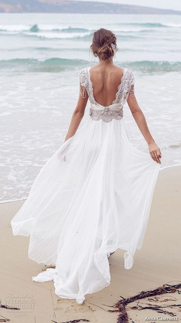 Anna Campbell boho wedding dress