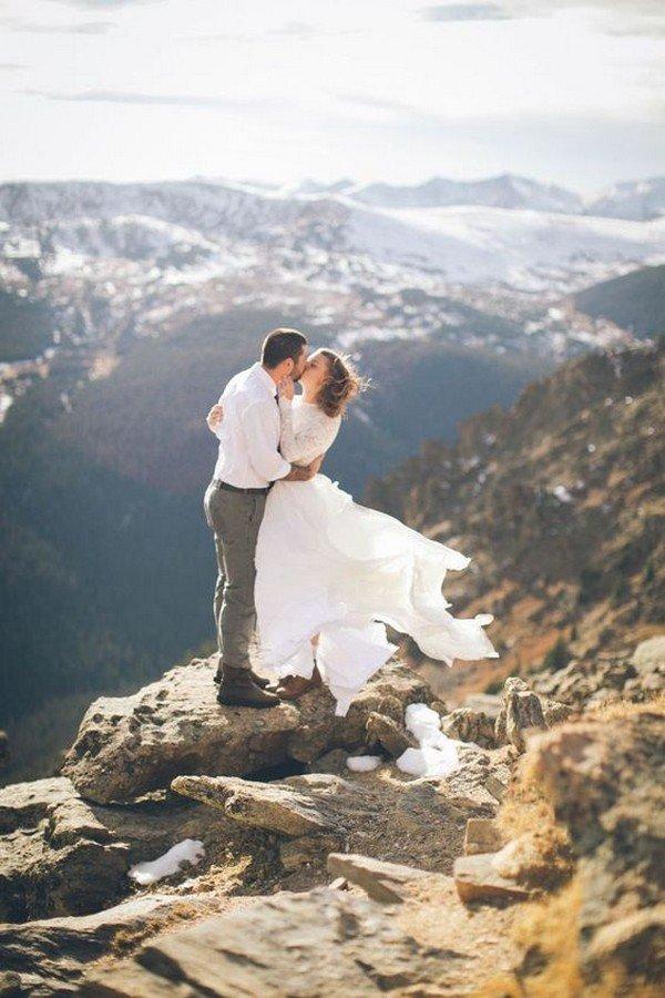 Epic mountain-top elopement at Estes Park