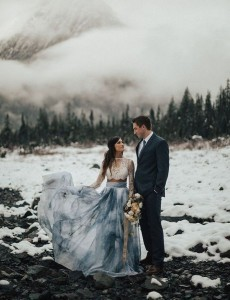Ice Cave Elopement Inspiration at the Big Four Ice Caves