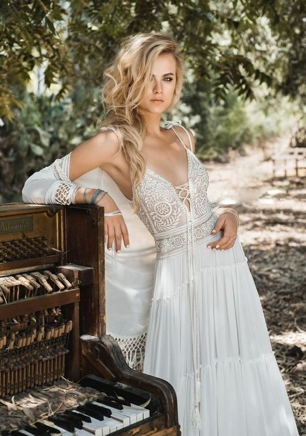 Inbal Raviv boho lace wedding dress