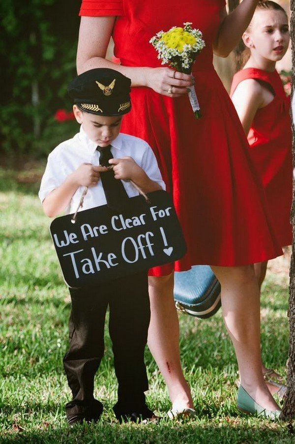 Retro aviation themed wedding ideas