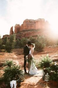 Sedona Red Rock Elopement Wedding Ideas