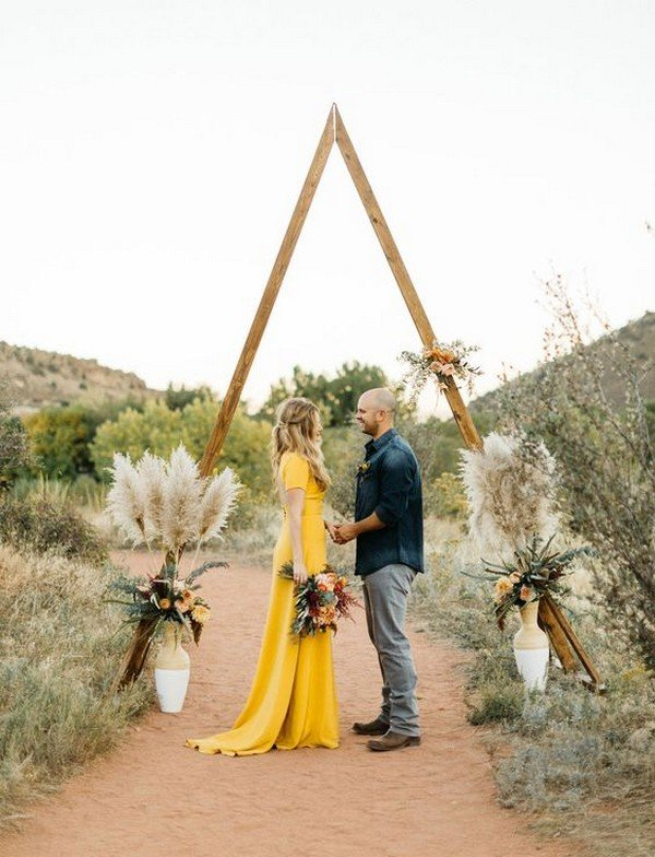 boho themed Southwestern Roadtrip elopment wedding photo