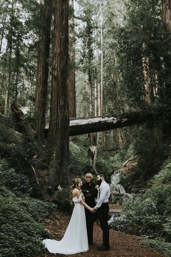 forest elopement wedding ideas