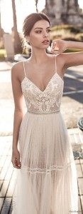 gali karten boho wedding dress with spaghetti strap