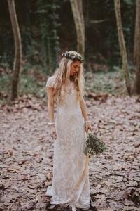 lace wedding dress for boho brides
