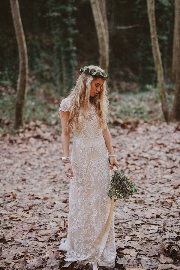 lace wedding dress for boho brides