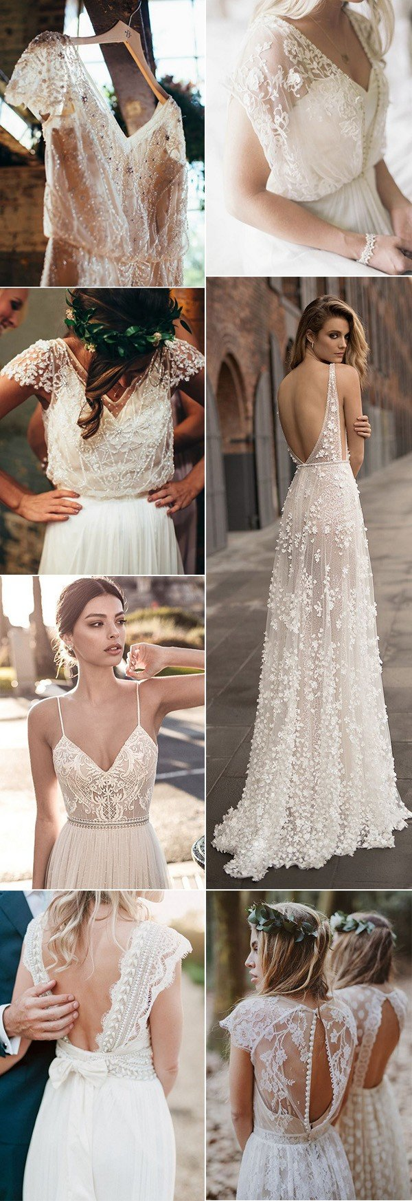 trending boho wedding dresses for 2018