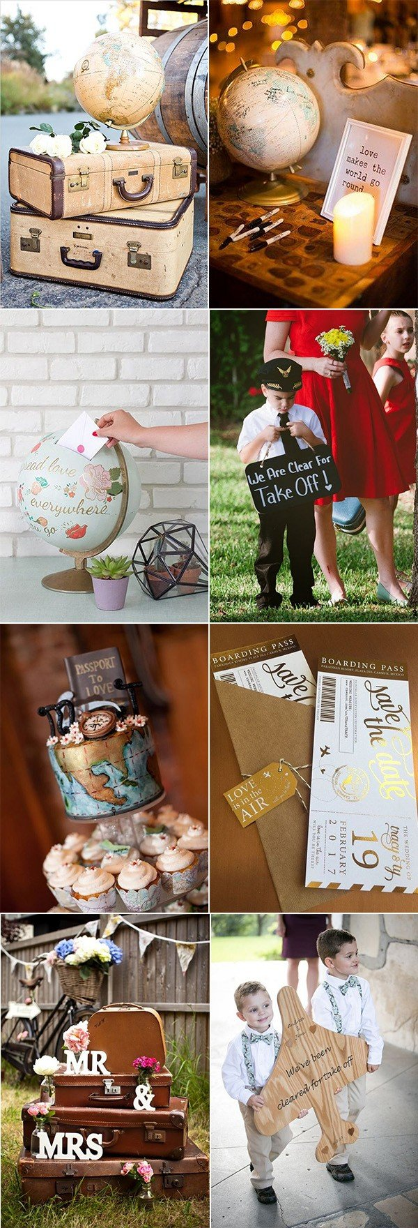 trending travel themed wedding ideas