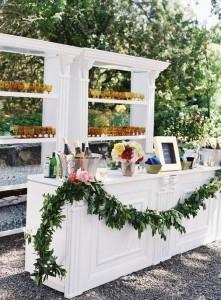 backyard wedding reception bar ideas