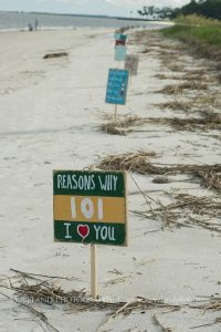 beach proposal ideas reasons why i love you