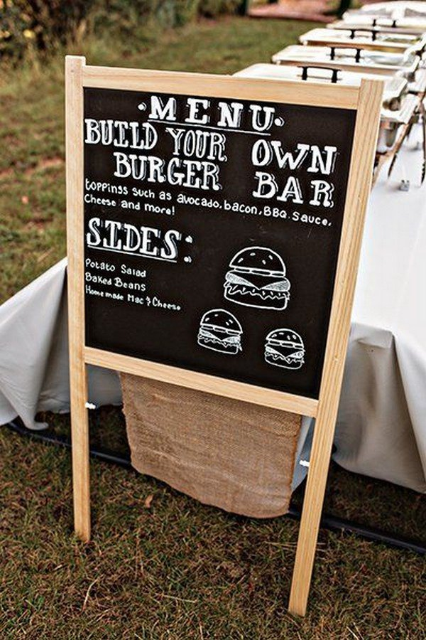 casual buffet bar ideas for wedding reception