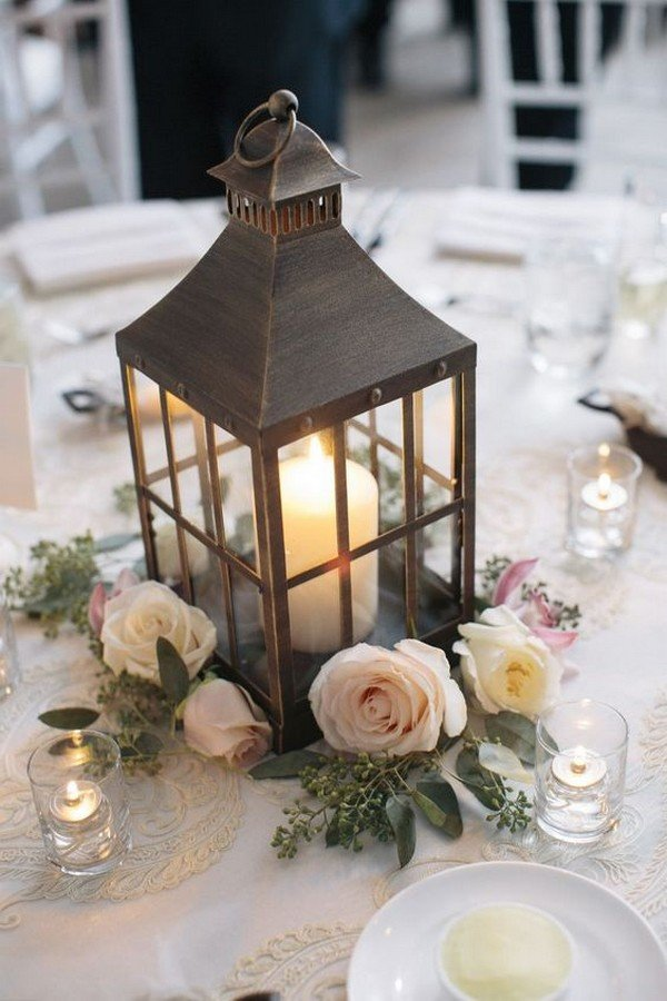 chic elegant wedding centerpiece ideas with lanterns