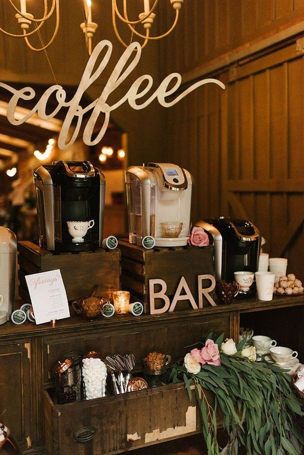 coffee bar themed wedding ideas