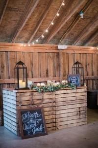 country rustic barn wedding reception bar ideas