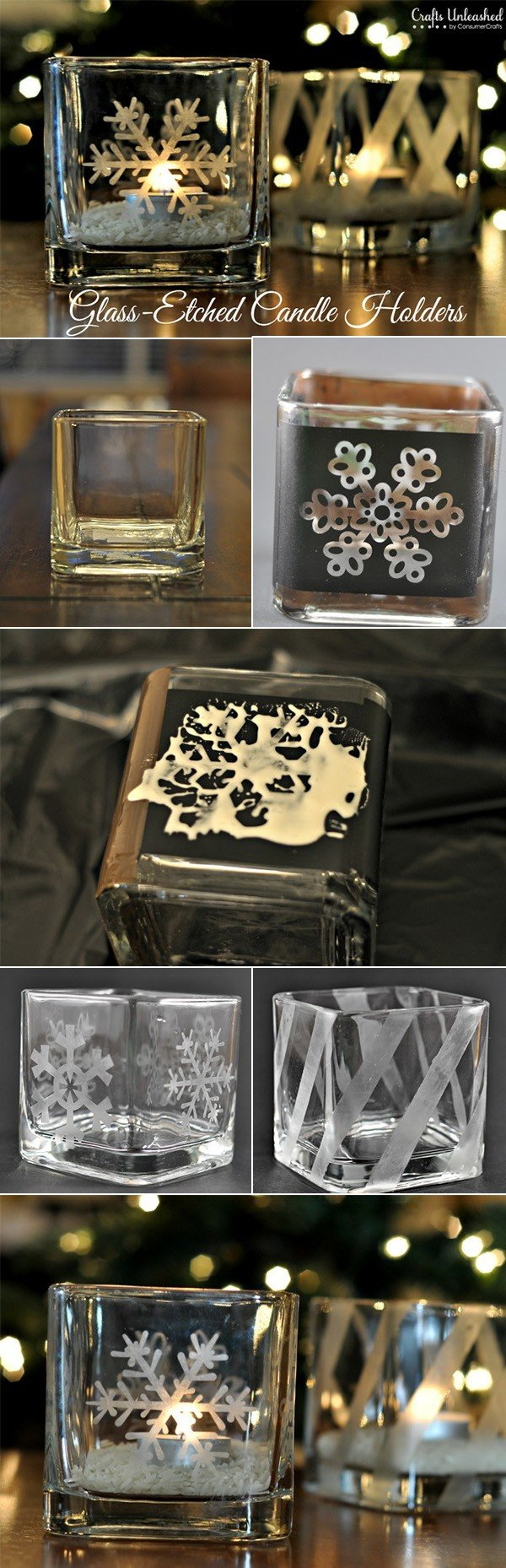 diy glass candle holders for wedding decorations