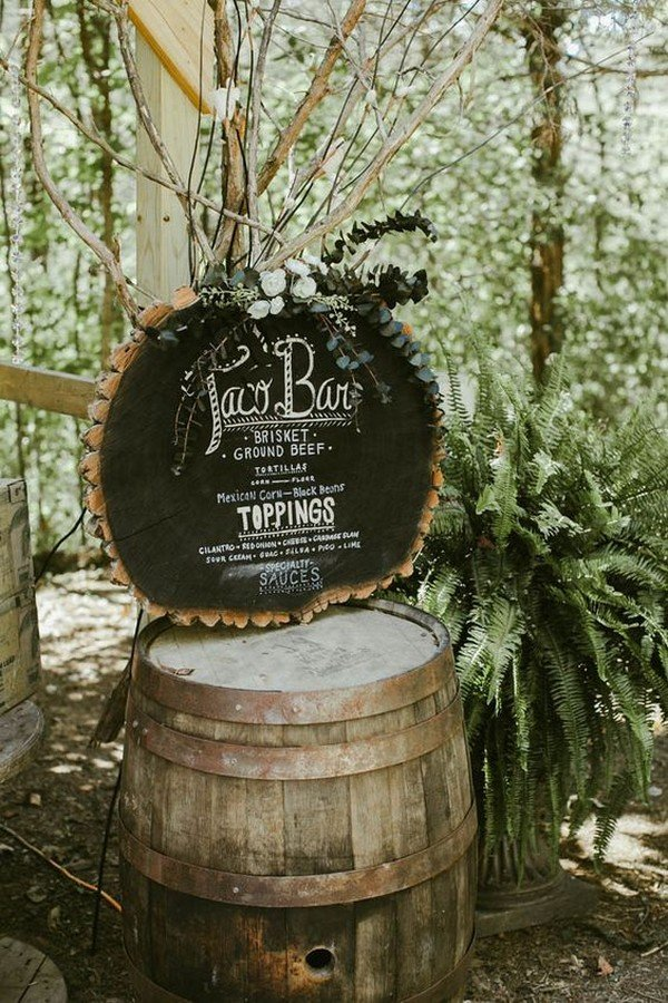 diy taco bar wedding reception ideas