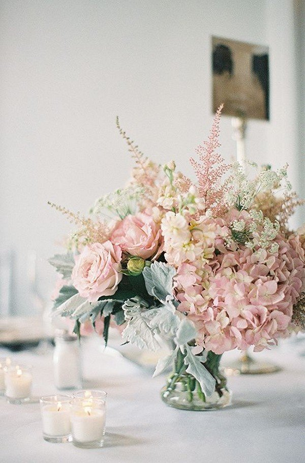 elegant dusty pink wedding centerpiece ideas