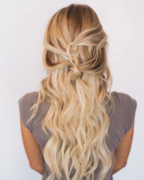 elegant half up half down bridal hairstyle