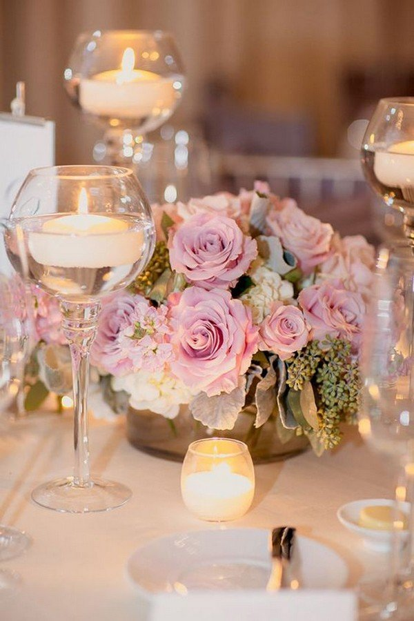 elegant wedding centerpiece ideas with floating candles