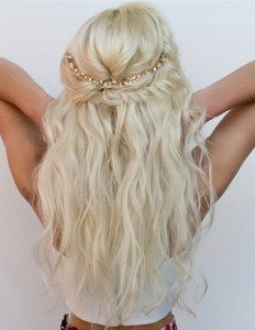 half up half down bridal hairstyle