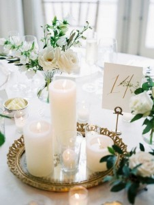 romantic wedding centerpiece ideas with candles