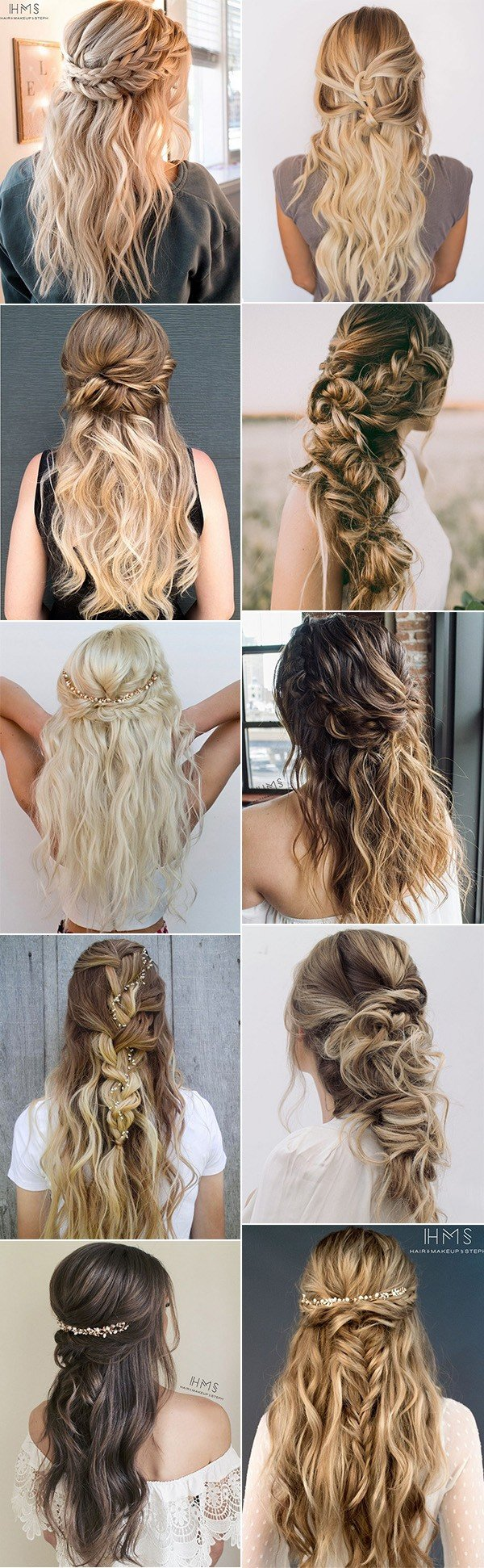 trending half up half down wedding hairstyles for 2018