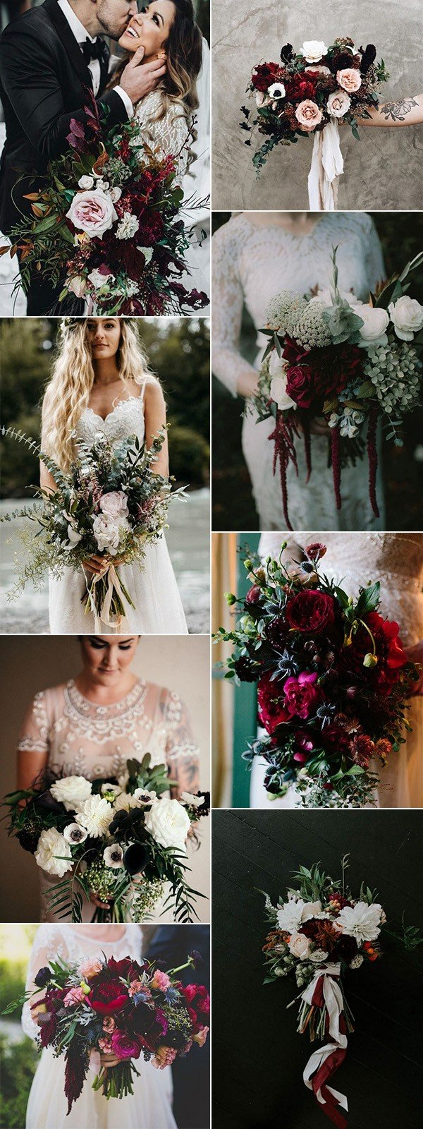trending moody wedding bouquet ideas