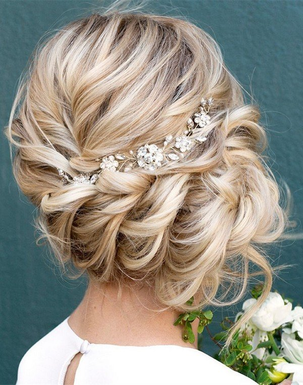 twisted updo wedding hairstyle ideas