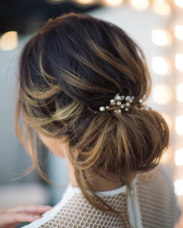 updo elegant wedding hairstyle for 2018