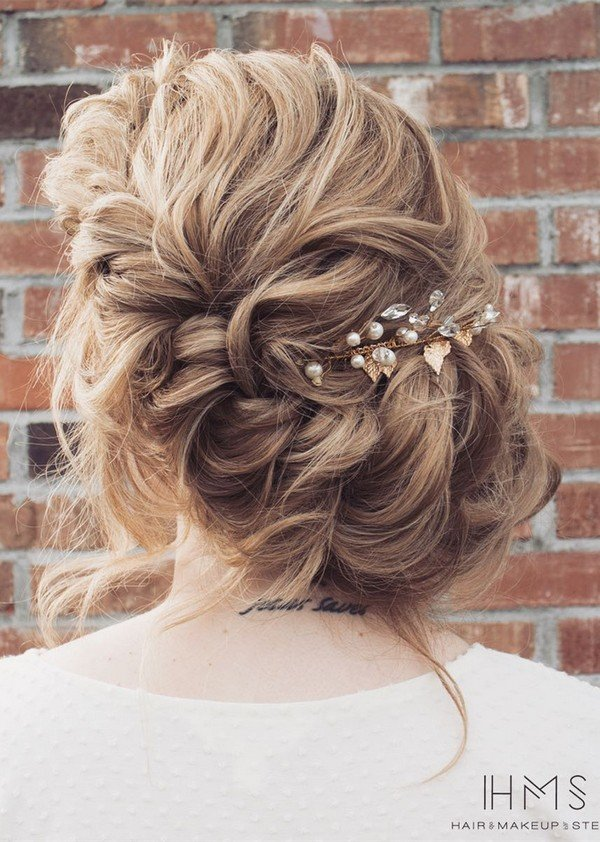 updo wedding hairstyle from steph