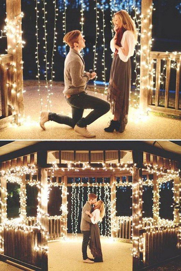 wedding proposal ideas with location decorations