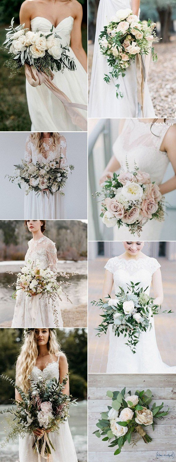2018 trending neutral wedding bouquets