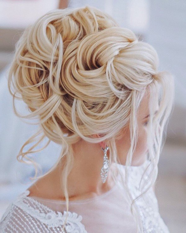 Elstile elegant updo wedding hairstyle