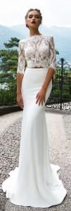 Milla Nova two piece wedding dress with lace top