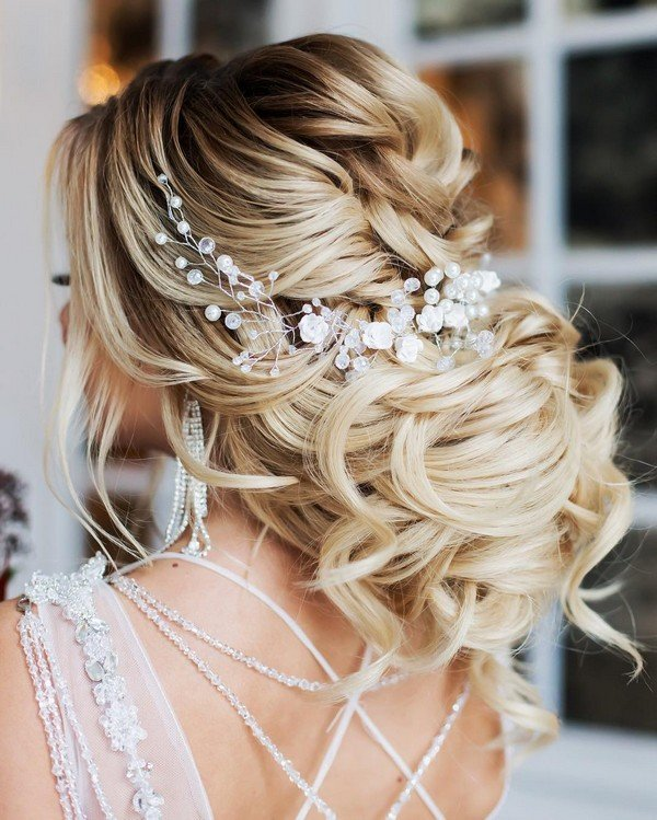Wedding hairstyles archives oh best day ever gorgeous updo wedding hairstyle with headpiece junglespirit Image collections
