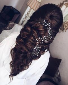 half up half down wedding hairstyle from Elstile