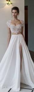 pretty two piece wedding dress