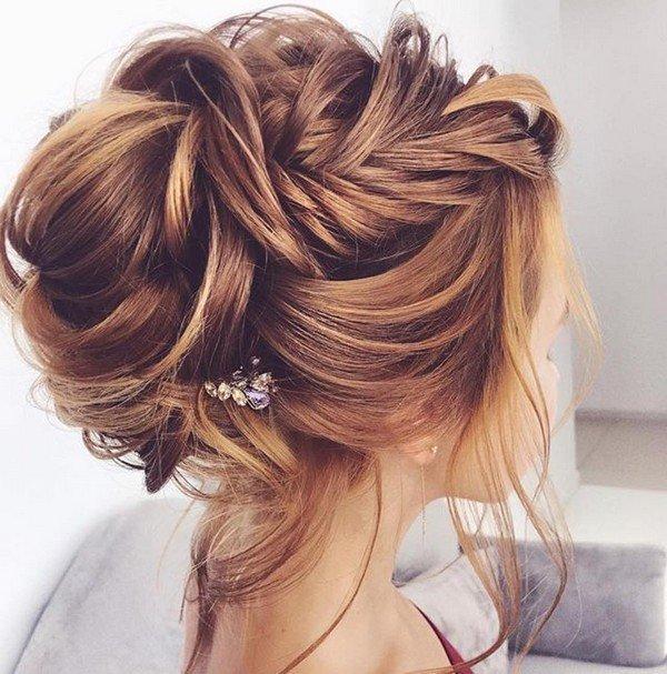 pretty updo wedding hairstyle