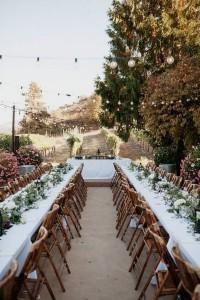 rustic vineyard themed wedding reception ideas