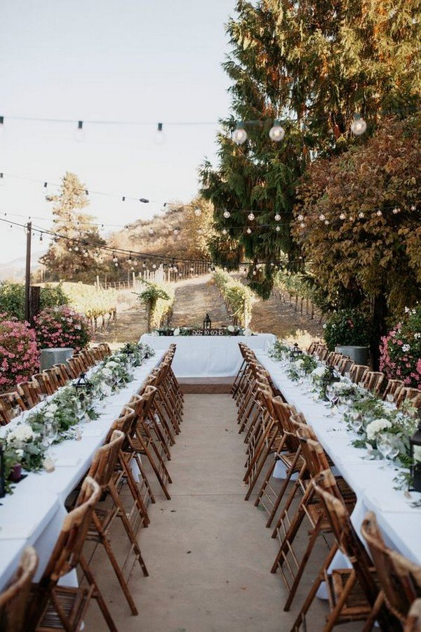 rustic vineyard themed wedding reception ideas