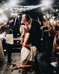 sparklers send off wedding photos