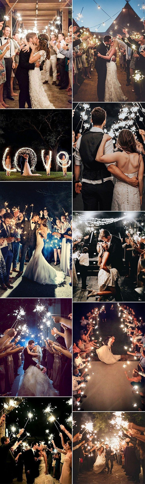 trending sparklers send off wedding photo ideas