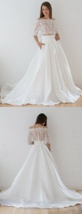 trending two piece wedding dress for 2018
