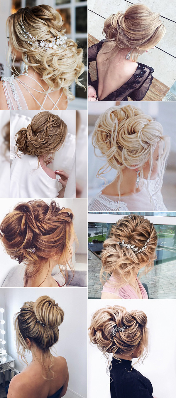 trending updo wedding hairstyles from Elstile for 2018
