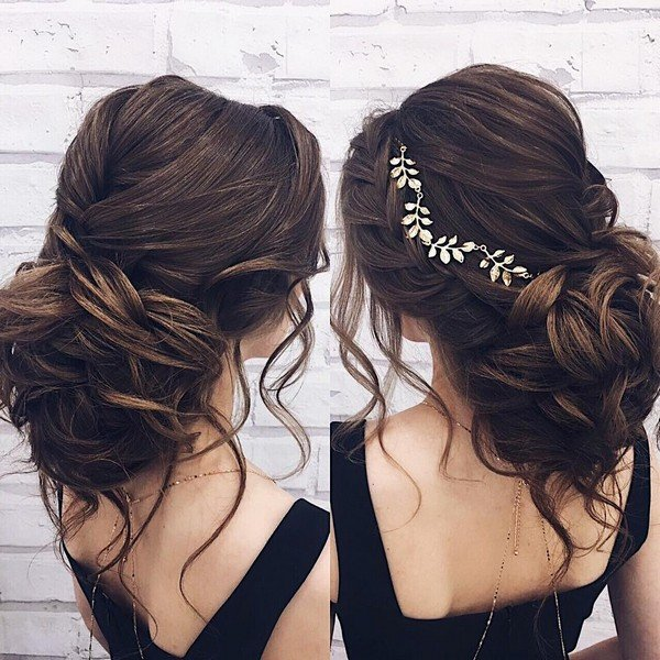 updo wedding hairstyle for long hair