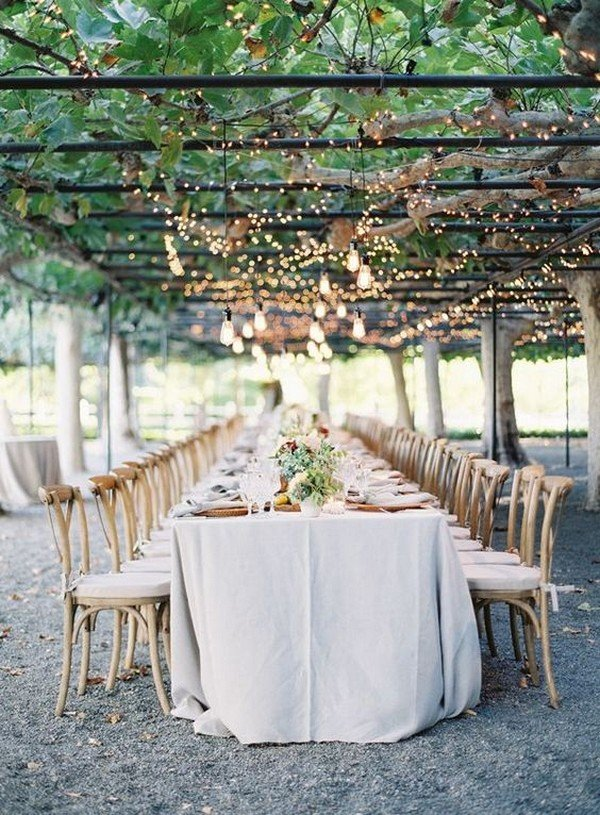 vineyard themed wedding reception