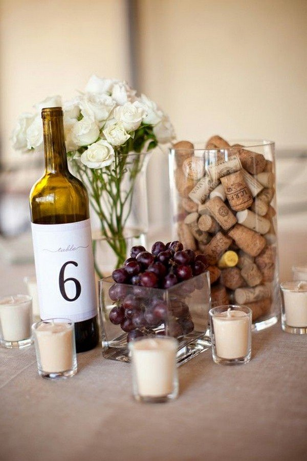 wedding centerpiece ideas with wine cork